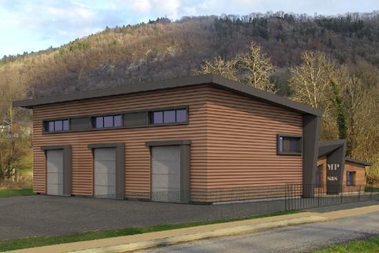 Bâtiment d'activité à Rotherens