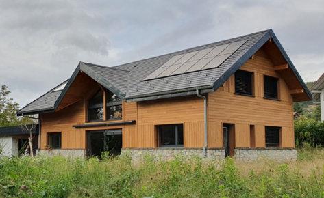 Maison bioclimatique à Novalaise